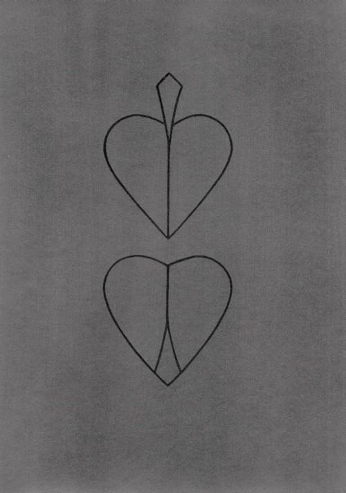 Hearts - Graphite and pencil on paper