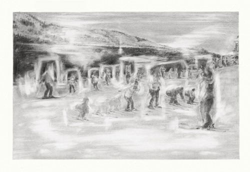 The white field - Pencil on paper
