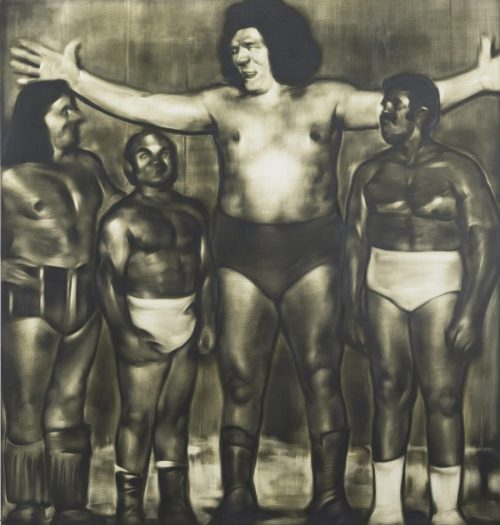 Four Giants - Oil paint and graphite powder on canvas