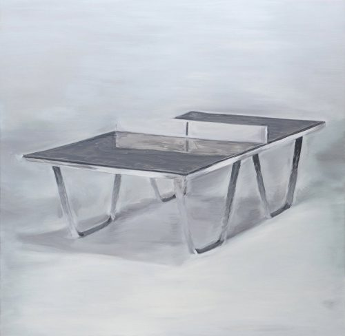 Ping-Pong - Oil paint on aluminium mounted on wood panel
