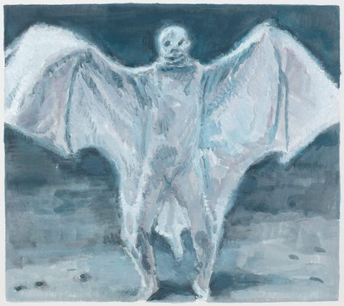 Wing suit - Oil on paper