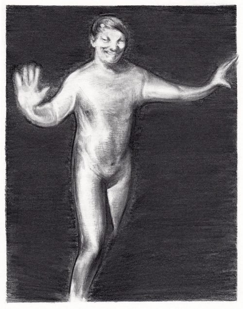 Figure with Costume - Pencil on paper